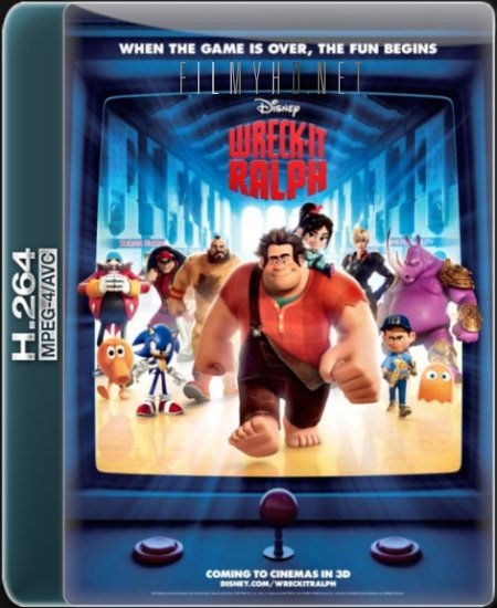 Ralph Demolka / Wreck-It Ralph (2012) PLDUB.720p.BluRay.x264.AC3-KiT / Dubbing PL